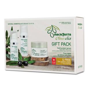 MACROVITA GIFT SET OLIVE-ELIA: Anti-wrinkle Night Cream 50ml + Anti-aging & Lifting Serum 30ml + FREE Hydrating Eye Cream 30ml