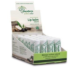 MACROVITA OLIVE-ELIA Lip balm NATURAL SPF10 olive oil & beeswax 4g