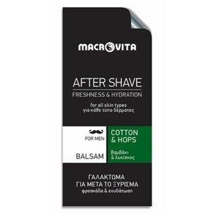 MACROVITA After Shave Balsam mit Baumwolle und Bio-Hopfen 3ml (Probe)
