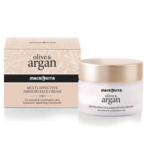 MACROVITA OLIVE & ARGAN MULTI-EFFEKTIV 24-Stunden-Creme für normale und mische Haut 50ml