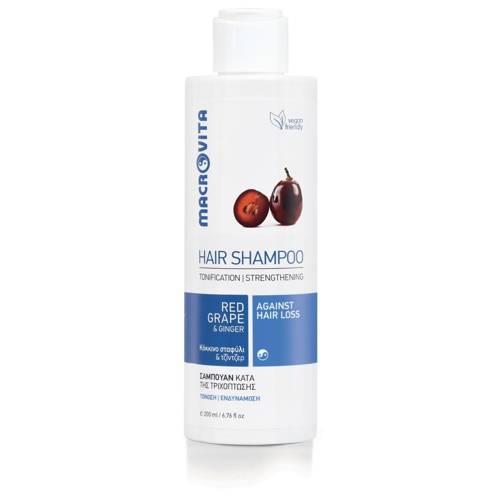 MACROVITA Stärkung Shampoo gegen Haarausfall roten Trauben & Ingwer 200ml