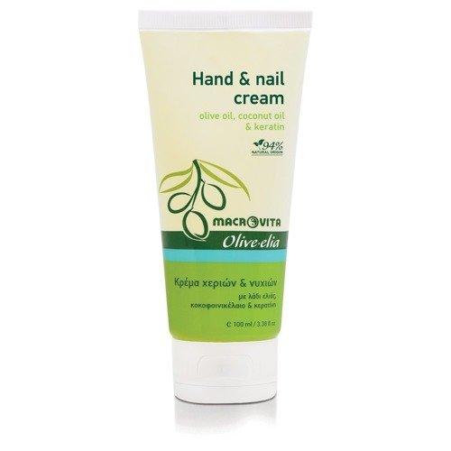 MACROVITA OLIVE-ELIA HAND & NAIL krem do rąk i paznokci oliwka, olej kokosowy i keratyna 100ml