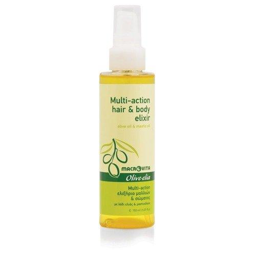 MACROVITA OLIVE-ELIA MULTI-ACTION HAIR & BODY ELIXIR eliksir do włosów i ciała z bio-oliwą i olejem mastyksowym 150ml
