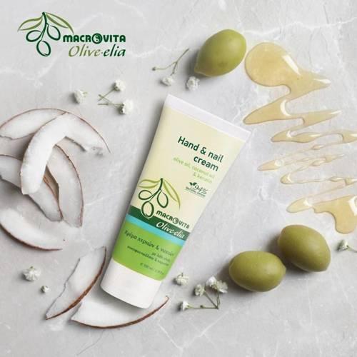 MACROVITA OLIVE-ELIA krem do rąk i paznokci oliwka, olej kokosowy i keratyna 100ml