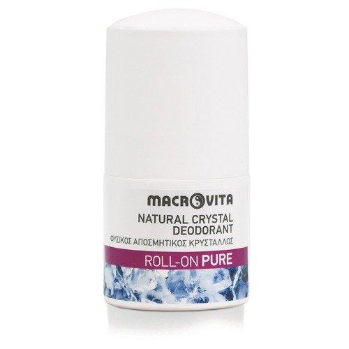 MACROVITA dezodorant roll-on z naturalnym kryształem PURE 50ml