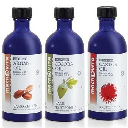 ZESTAW MACROVITA: olej arganowy 100ml + olej jojoba 100ml + olej rycynowy 100ml